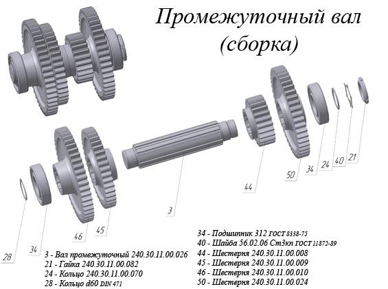 Входной вал (ДЗ-122, ДЗ-180)